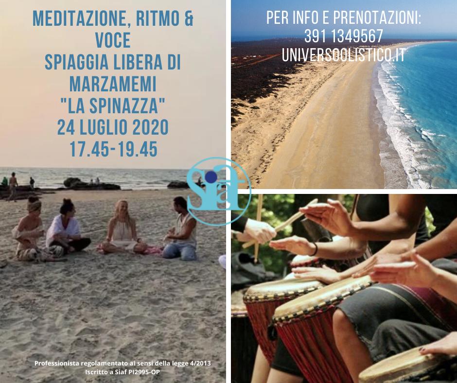 Evento olistico: meditazione, ritmo & voce Marzamemi