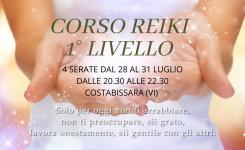 CORSO REIKI 1° LIVELLO – COSTABISSARA (VI)