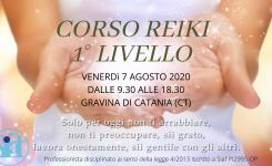 CORSO REIKI 1° LIVELLO GRAVINA DI CATANIA (CT)